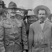 Pershing with Mexican revolutionary leader Pancho Villa in 1914