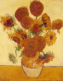 Fourteen Sunflowers in a Vase, Van Gogh, 1888