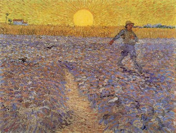 Sower with Setting Sun, Van Gogh, 1888